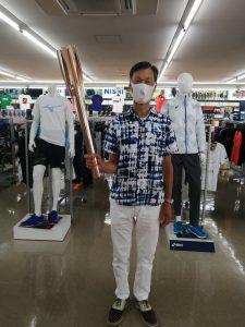 東京オリンピック聖火ランナー 生熊伸羊さん ご来店くださいました